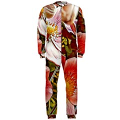 Flower Hostanamone Drawing Plant Onepiece Jumpsuit (men)