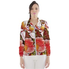 Flower Hostanamone Drawing Plant Wind Breaker (women)
