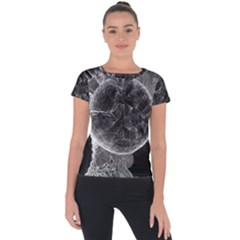 Space Universe Earth Rocket Short Sleeve Sports Top