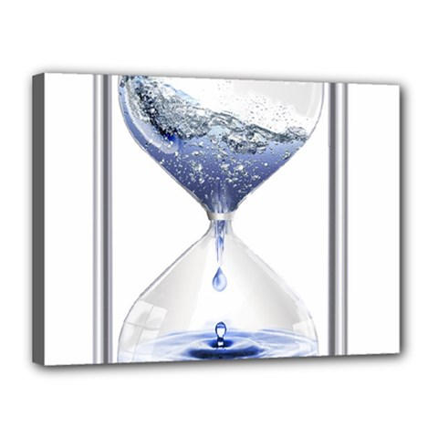 Time Water Movement Drop Of Water Canvas 16  X 12