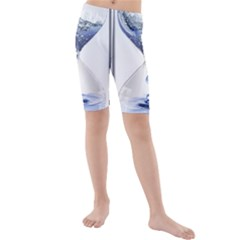 Time Water Movement Drop Of Water Kids  Mid Length Swim Shorts