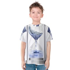Time Water Movement Drop Of Water Kids  Cotton Tee