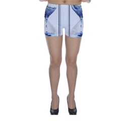 Time Water Movement Drop Of Water Skinny Shorts