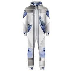 Time Water Movement Drop Of Water Hooded Jumpsuit (men)