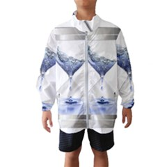Time Water Movement Drop Of Water Wind Breaker (kids)