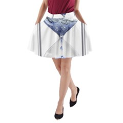 Time Water Movement Drop Of Water A Line Pocket Skirt