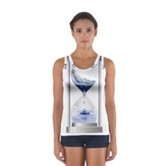 Time Water Movement Drop Of Water Sport Tank Top