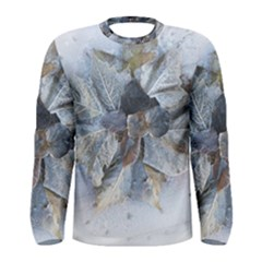 Winter Frost Ice Sheet Leaves Men s Long Sleeve Tee