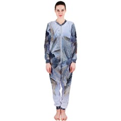 Winter Frost Ice Sheet Leaves Onepiece Jumpsuit (ladies)