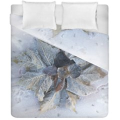 Winter Frost Ice Sheet Leaves Duvet Cover Double Side (california King Size)