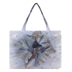Winter Frost Ice Sheet Leaves Medium Tote Bag