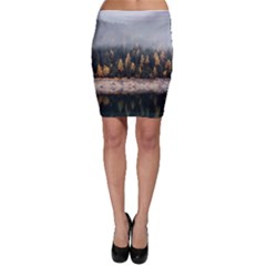 Trees Plants Nature Forests Lake Bodycon Skirt
