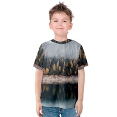 Trees Plants Nature Forests Lake Kids  Cotton Tee