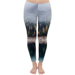Trees Plants Nature Forests Lake Classic Winter Leggings