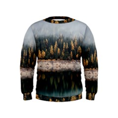 Trees Plants Nature Forests Lake Kids  Sweatshirt