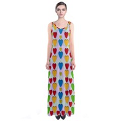 So Sweet And Hearty As Love Can Be Sleeveless Maxi Dress