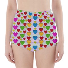 So Sweet And Hearty As Love Can Be High Waisted Bikini Bottoms