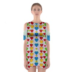 So Sweet And Hearty As Love Can Be Shoulder Cutout One Piece