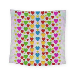 So Sweet And Hearty As Love Can Be Square Tapestry (small)