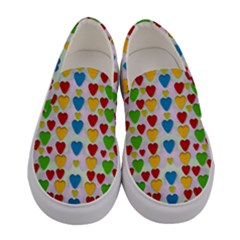 So Sweet And Hearty As Love Can Be Women s Canvas Slip Ons