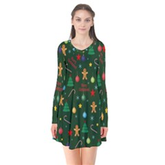 Christmas Pattern Flare Dress