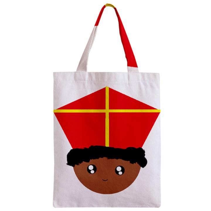 Cutieful Kids Art Funny Zwarte Piet Friend of St  Nicholas wearing his Miter Zipper Classic Tote Bag
