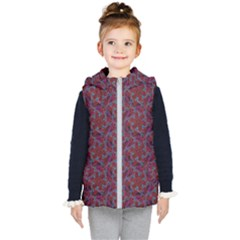 Whirligig Pattern Hand Drawing Red Kid s Puffer Vest