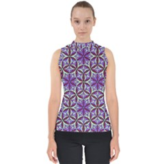Flower Of Life Hand Drawing Pattern Shell Top