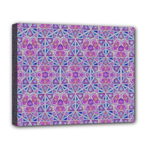 Star Tetrahedron Hand Drawing Pattern Purple Deluxe Canvas 20  X 16