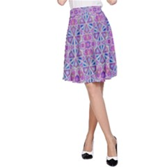 Star Tetrahedron Hand Drawing Pattern Purple A Line Skirt