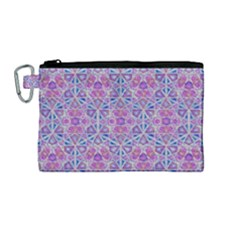 Star Tetrahedron Hand Drawing Pattern Purple Canvas Cosmetic Bag (m)