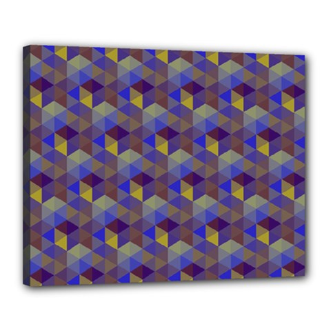 Hexagon Cube Bee Cell Purple Pattern Canvas 20  X 16