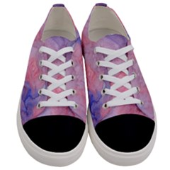 Mr  Hughes Blues Women s Low Top Canvas Sneakers