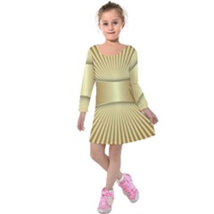 Gold8 Kids  Long Sleeve Velvet Dress