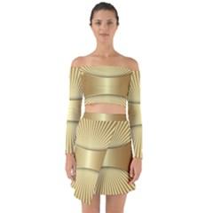Gold8 Off Shoulder Top With Skirt Set