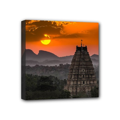 Beautiful Village Of Hampi Mini Canvas 4  X 4