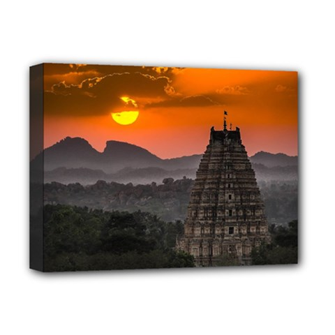 Beautiful Village Of Hampi Deluxe Canvas 16  X 12