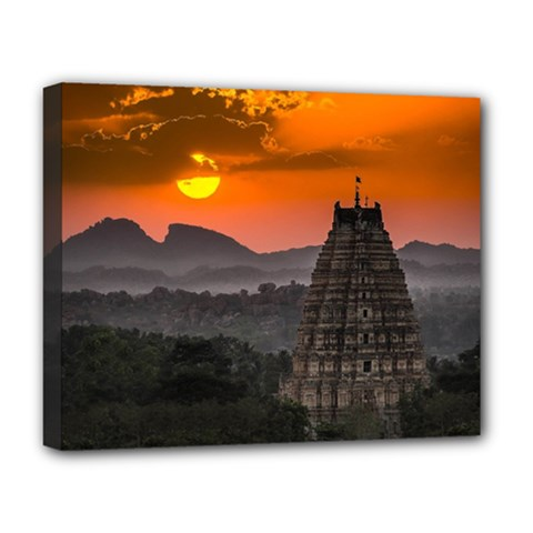 Beautiful Village Of Hampi Deluxe Canvas 20  X 16