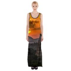 Beautiful Village Of Hampi Maxi Thigh Split Dress