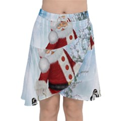 Santa Claus With Funny Penguin Chiffon Wrap