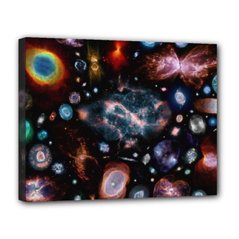 Galaxy Nebula Canvas 14  X 11