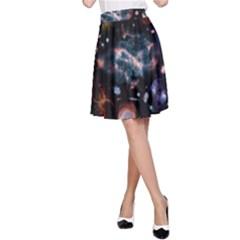 Galaxy Nebula A Line Skirt