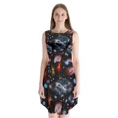 Galaxy Nebula Sleeveless Chiffon Dress