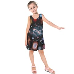 Galaxy Nebula Kids  Sleeveless Dress