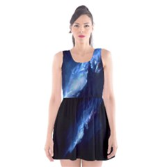 Nebula Scoop Neck Skater Dress