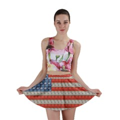Geometricus Usa Flag Mini Skirt