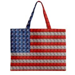 Geometricus Usa Flag Zipper Mini Tote Bag