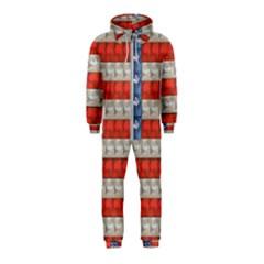 Geometricus Usa Flag Hooded Jumpsuit (kids)