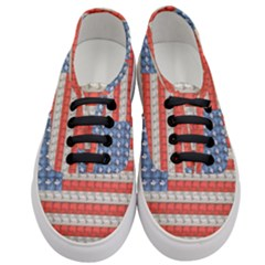 Geometricus Usa Flag Women s Classic Low Top Sneakers