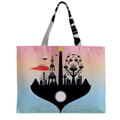 Future City Zipper Mini Tote Bag